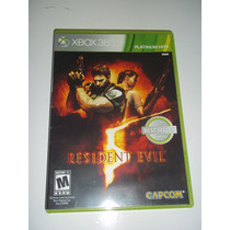 Jogo Game Resident Evil 5 Para Xbox 360 Platinum Hits Dvd