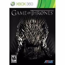 Manual De Instruções Game Of Thrones Xbox 360 Original Usado