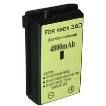 Bateria Recarregavel Xbox 360 4800mah - Cores Preto E Branco