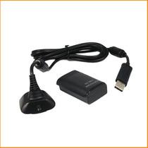 Bateria E Carregador P/ Controle Xbox Mah Slim Usb Cabo