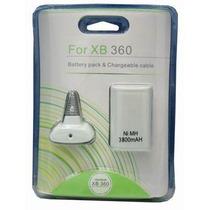 Bateria Controle Xbox 360 Recarregável +cabo Carregador Novo
