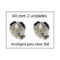 Kit 2 Analógicos 3d Xbox 360 Microsoft Controle Botão