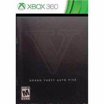 Manual De Instruções Jogo Gta 5 Grand Theft Auto V Xbox 360