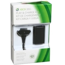 Bateria + Carregador Cabo Fonte Usb Para Controle Xbox 360