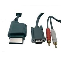 Cabo Vga P Xbox 360 Com Audio Rca Optico + Adaptador P2