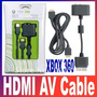 Xbox 360 Cable Av Hdmi Y Adaptador Optico Audio Rca