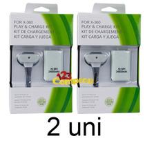 Kit 2 Bateria Carregador Branco P/ Controle Xbox 24.000mah