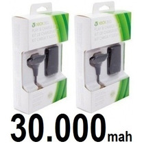 Kit 2 Bateria Play & Charge Carregador Do Controle Xbox