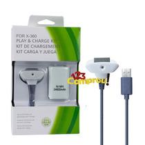 Bateria Carregador Branco P/ Controle Xbox 12.000mah