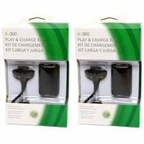 Kit Com 2 Baterias Para Controle Xbox 360 4800mah
