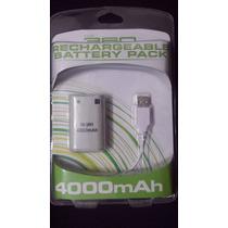Bateria Recarregável 4000mah P Xbox 360 + Cabo Carregador