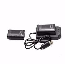 Kit 1 Baterias Carregador P/ Controle Xbox 360 Jogue S Parar