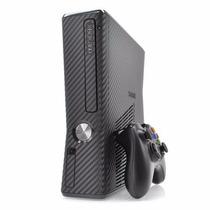 Capa Xbox 360 Slim Vinil Pelicula Skin - Fibra De Carbono