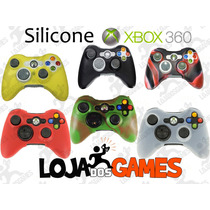 Capa Silicone Lavável P/ Controle Xbox 360, Várias Cores!!!