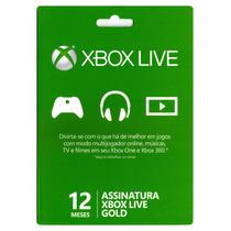 Xbox Live Gold 12 Meses Br Us Eu Jp Envio Imediato S. G.
