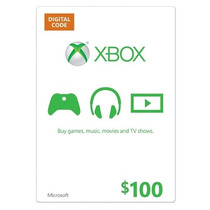 Cartão Xbox Live Gift Card $100 Dolares - Xbox One Ms Points