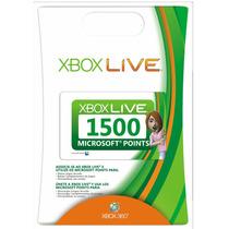 Xbox Live Brasil - Cartão 1500 Pontos Microsoft Points Ms Br