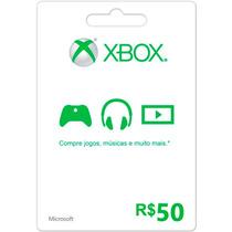 Xbox Live Cartão R$ 50 Reais Gift Microsoft Points Brasil