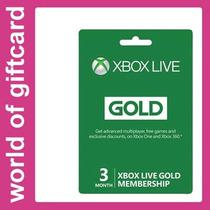 Cartão De Sócio Xbox Live 3 Meses De Ouro Por Email