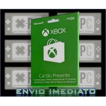 Cartão Xbox Live 100 Reais Gift Card Microsoft One 360 Br