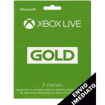 Xbox Live Gold Brasil Cartão De 3 Meses Xbox One E Xbox 360