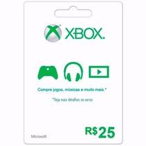 Cartão Presente Xbox Live Brasil Microsoft Points R$ 25 Key