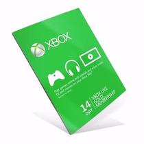 Xbox Live Gold Cartão 14 Dias - Us E Br Código 25 Dígitos!