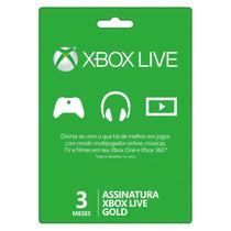 Xbox Live Gold Brasil Br Cartão De 3 Meses - Aproveitem