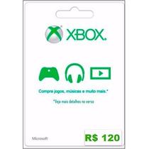 Cartão Microsoft Points Xbox Live Brasil De R$ 120 Imediato