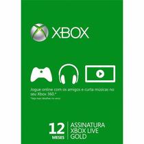 Cartão Microsoft 12 Meses Xbox Gold Live Brasil