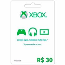 Microsoft Xbox Live Cartão R$ 30 Reais Gift Points Brasil