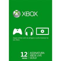 Código Xbox Live Gold 1 Ano (12 Meses) Envio Por E-mail
