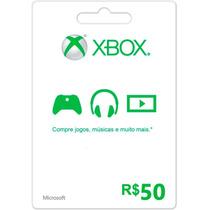 Microsoft Xbox Live Cartão R$ 50 Reais Gift Points Brasil