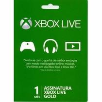 Xbox Live Gold Brasil - Cartão 01 Mes De Assinatura Gold