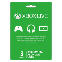 Xbox Live Gold Brasil Br - Cartão De 3 Meses - Envio Agora!