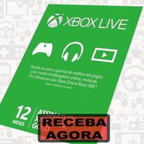 Xbox Live Gold 12 Meses 1 Ano Cartão Xbox One E 360
