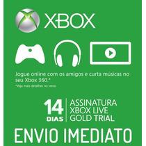 Xbox Live Gold Br Usa Cartão 14 Dias - Envio Imediato !