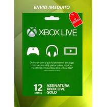 Xbox Live Brasil Cartão 12 Meses Br Brasil - Imediato