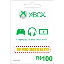 Xbox Live Cartão R$ 100 Reais Gift Microsoft Points Brasil