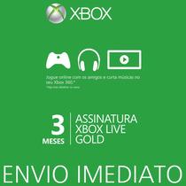 Xbox Live Gold Br Cartão De 3 Meses - Envio Imediato
