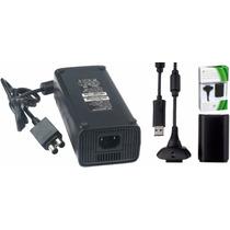 Kit Fonte P/ Xbox 360 Slim + Cabo P/controle 100v 240v 135w