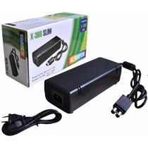 Fonte Xbox 360 Slim Alimentação Bivolt Ac Cabo De Força