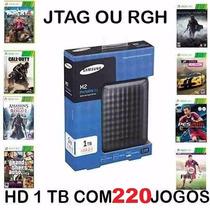 Hd 1 Tb Externo Original Com 200 Jogos Para Xbox 360