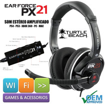 Fone Headset Turtle Beach Px21 Ps4 Ps3 Xbox 360 Pc Mac