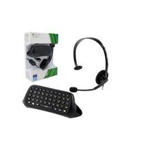 Fone De Ouvido Headset Xbox 360 Original + Teclado Chatpad