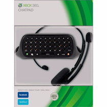 Kit Chatpad E Headset Xbox 360 Fone Game Original Microsoft