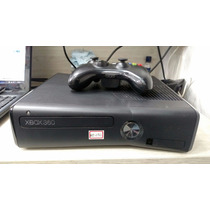 Xbox 360 Slim Preto 250gb - Travado Semi Novo