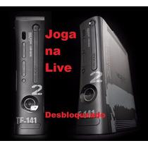 X- Box 360 Semi-novo, Destravado + 10jogos-kit Carregador