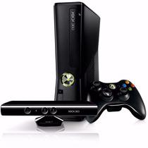 Xbox 360 Slim 4gb Travado + Kinect + 1 Jogo + Joga Na Live