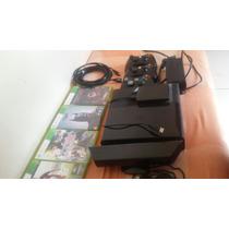 X Box 360 ( Hd 500 Gb Com Jogos, Kinect, 3 Cont , 4 J Ori.